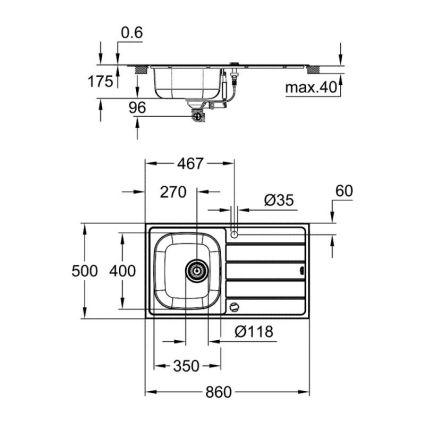Кухонна мийка Grohe Sink K200 31552SD1 - 2
