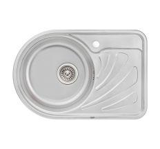 Кухонна мийка Qtap 6744L dekor 0,8 мм (QT6744LMICDEC08)