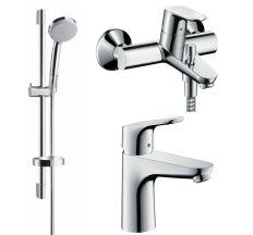 Focus Набор смесителей для ванны (31607000+31940000+27772000/26553400)