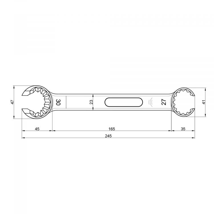 """117 Ключ для затягування фітингів з різьбою 24*1,5 и 3/4 """"Icma"""" - 2"""
