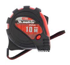 Рулетка Status magnet 3 записей 10 м х 32 мм, обрезиненный корпус, зацеп с магнитом, MTX