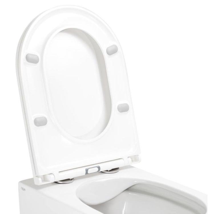 Унітаз підвісний Qtap Aries безободковый з сидінням Slim Soft-close QT0333063ERW - 4