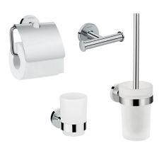 Logis Набір аксесуарів: гачок подвійний, тримач туалетного паперу, стакан, туалетна щітка (41725000+41723000+41718000+41722000)