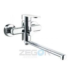 Z65-LOB7-A128 ZEGOR Смеситель для ванны длинный гусак, к.35