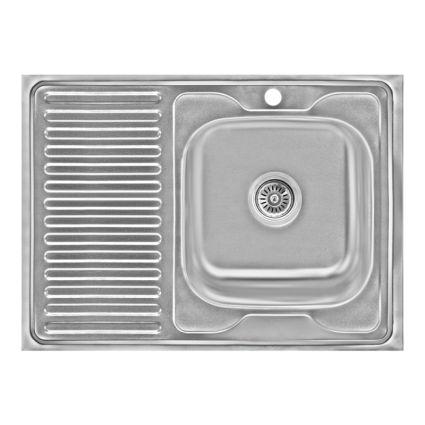 Кухонна мийка Lidz 6080-R Decor 0,6 мм (LIDZ6080RDEC06) - 1