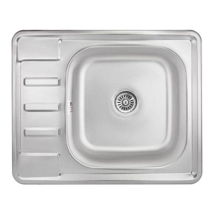 Кухонна мийка Lidz 6350 dekor 0,8 мм (LIDZ6350MDEC) - 1