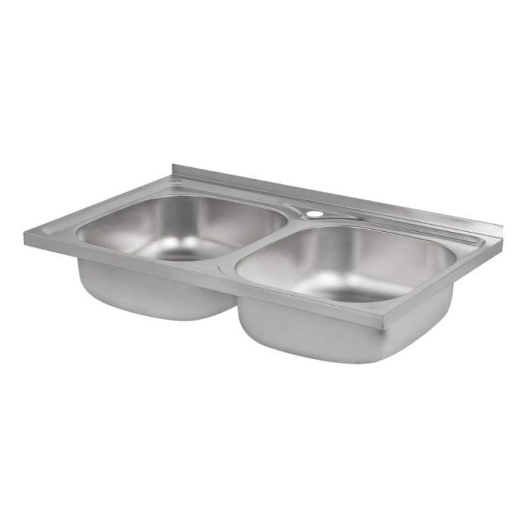 Кухонна мийка Lidz 5080 Decor 0,8 мм (LIDZ5080DEC08) - 4
