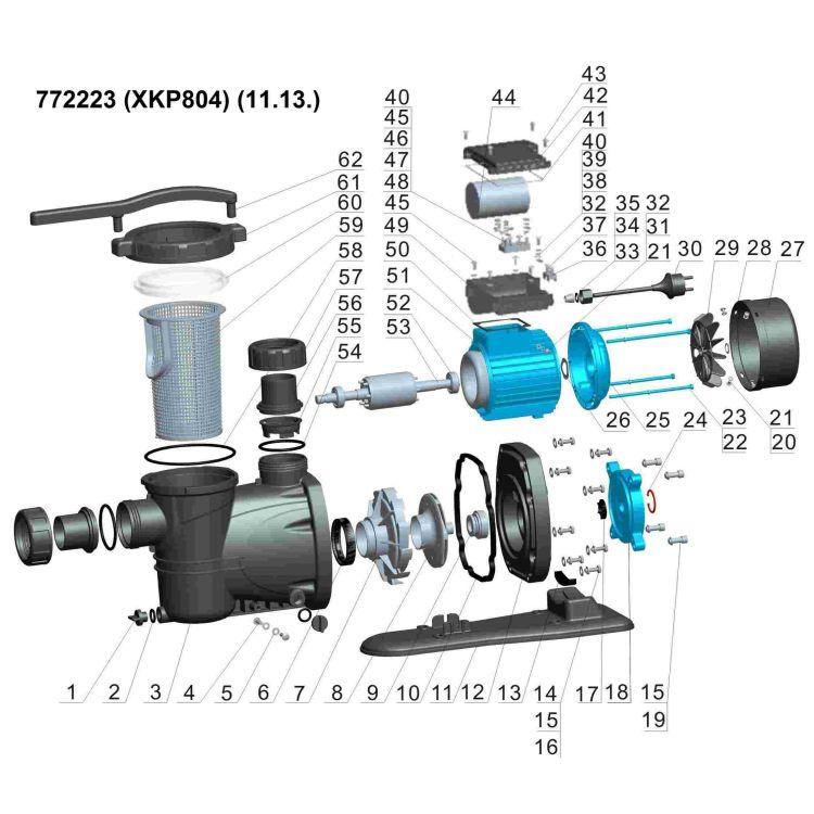 Насос для басейну 0.8 кВт Hmax 11м Qmax 300л/хв LEO (772223) - 3
