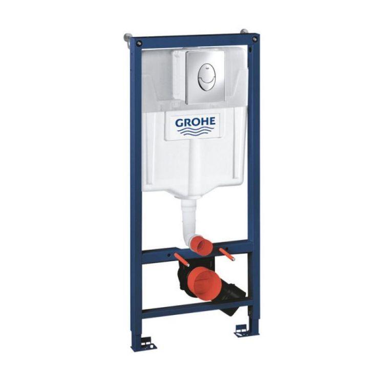 Комплект інсталяція Grohe Rapid SL 38721001 + унітаз з сидінням Qtap Jay QT07335176W + набір для гігієнічного душу зі змішувачем Grohe BauClassic 111048 - 7