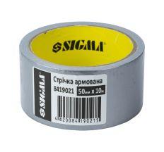 Армована стрічка (сіра) 50мм×10м Sigma (8419021)