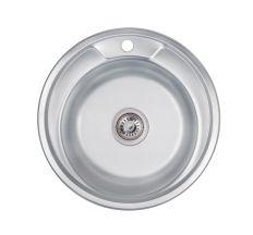 Кухонна мийка Lidz 490-A 0,6 мм Decor (LIDZ490А06DEC160)