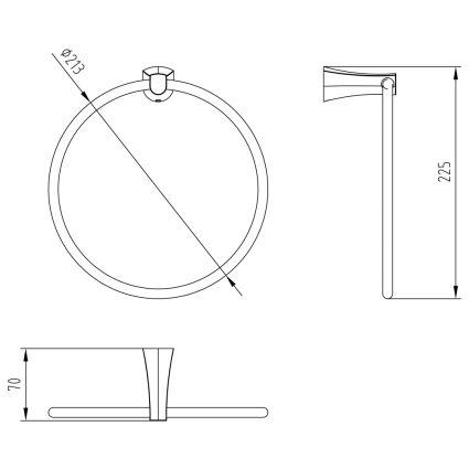 CUTHNA zlato полотенцедержатель (кільце) - 2