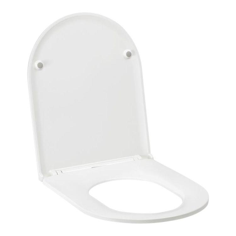 Унітаз підвісний Qtap Aries безободковый з сидінням Slim Soft-close QT0333063ERW - 7