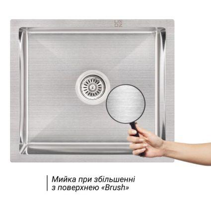 Кухонна мийка Lidz H5245 Brush 3.0/1.0 мм (LIDZH5245BRU3010) - 3