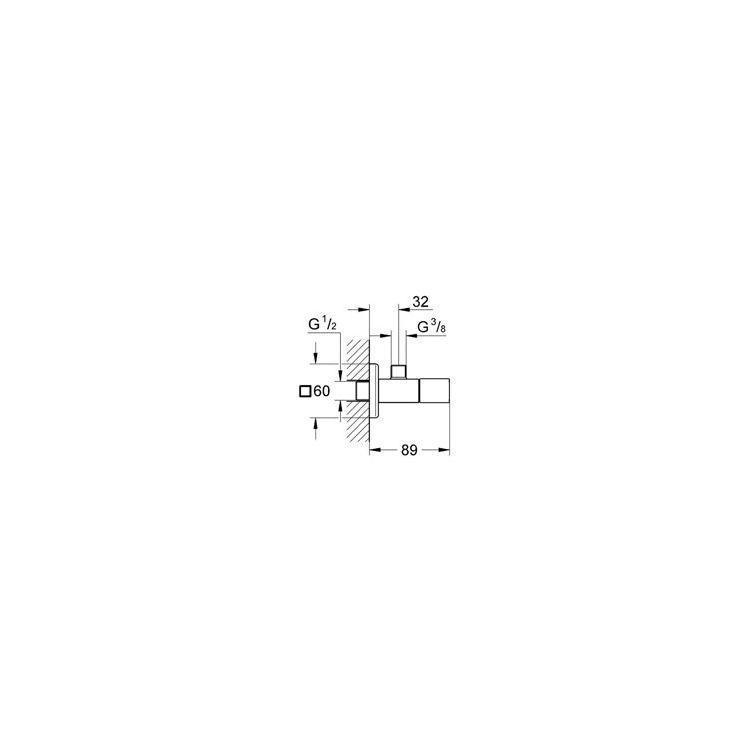 Eurocube Вентиль угловой - 2