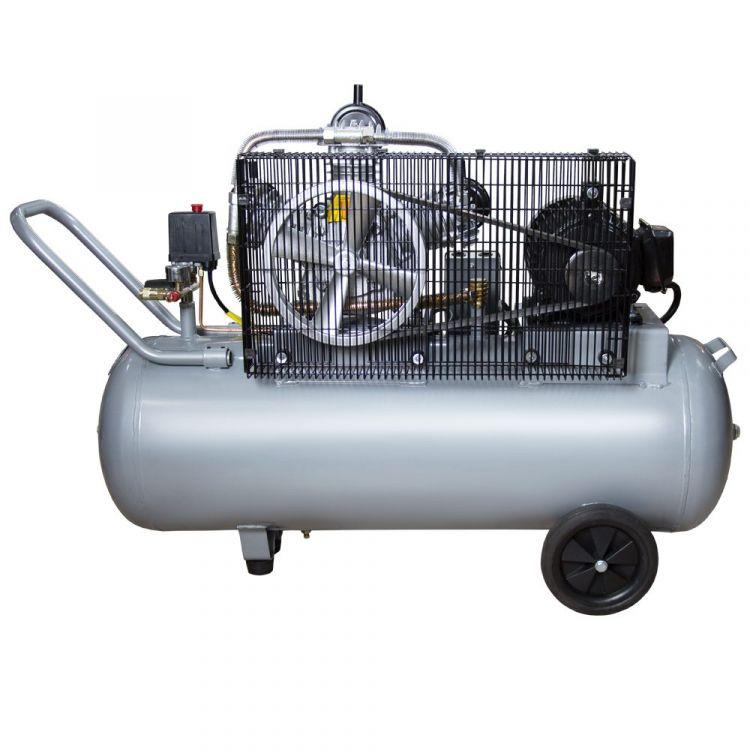Компрессор ременной трехцилиндровый 380В 3кВт 610л/мин 10бар 135л Sigma (7044711) - 2