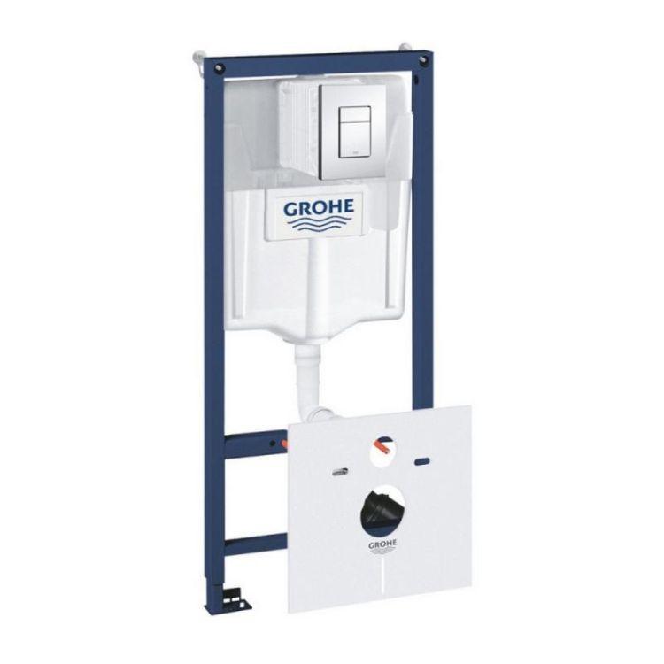 Комплект інсталяція Grohe Rapid SL 38827000 + унітаз з сидінням Qtap Jay QT07335176W + набір для гігієнічного душу зі змішувачем Grohe BauClassic 111048 - 7