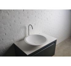 Умывальник 51,5*10,5см накладной каменный круглый Solid surface