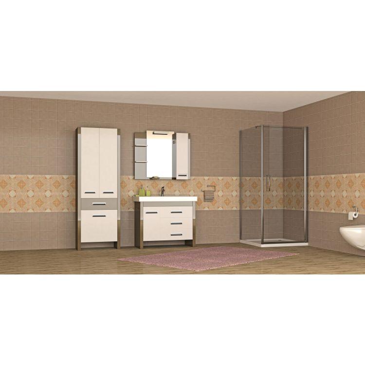 RUDAS душова кабіна квадратна 90*90*205 см, піддон (PUF) 5 см (з сифоном), орні, скло прозоре, права - 3