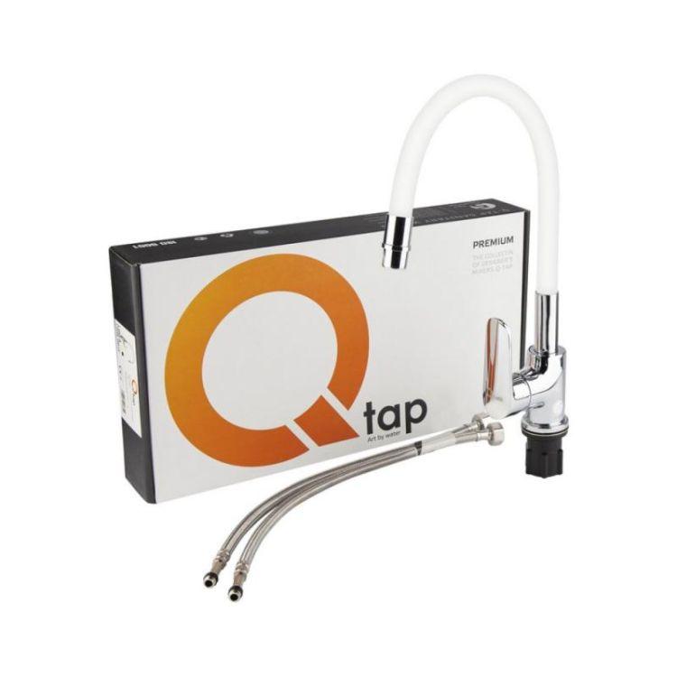 Змішувач для кухні з рефлекторним виливом Qtap Linea CRW 007F - 6
