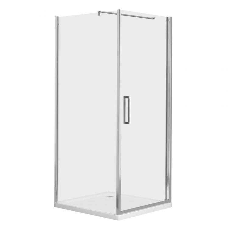 RUDAS душова кабіна квадратна 90*90*205 см, піддон (PUF) 5 см (з сифоном), орні, скло прозоре, права - 1