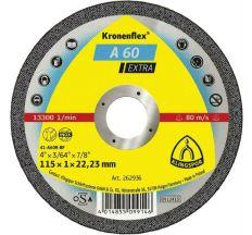 Круг отрезной по металлу Klingspor Kronenflex A60 Extra 115x1,0x22,2 мм 262936