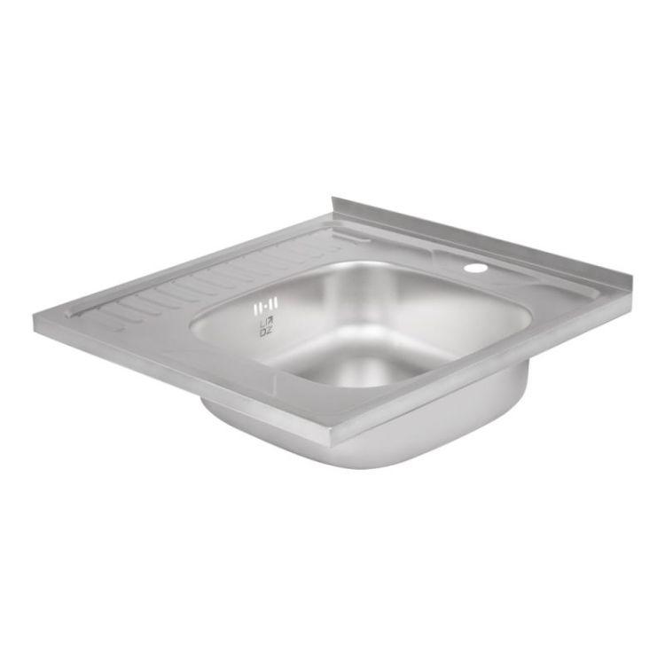 Кухонна мийка Lidz 6060-R Decor 0,8 мм (LIDZ6060RDEC08) - 4