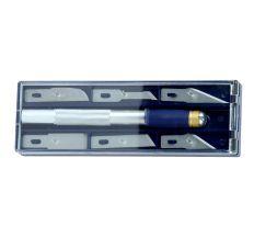 Набір ножів моделярских 6шт + тримач Sigma (8214011)