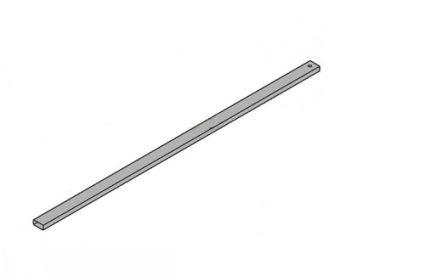 KOLO профіль підтримує стінку 90см, срібний блиск - 2