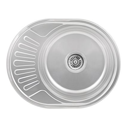Кухонна мийка Lidz 5745 Polish 0,6 мм (LIDZ5745POL06) - 1
