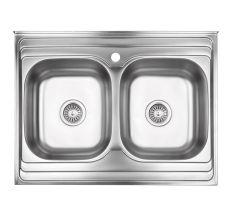 Кухонна мийка Lidz 6080 Decor 0,8 мм (LIDZ6080DEC08)