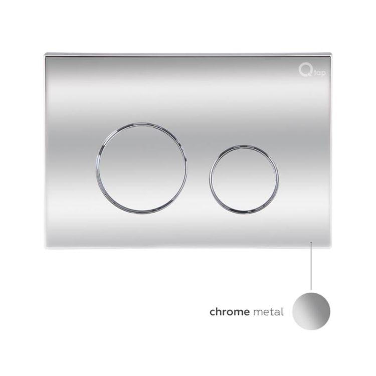 Набір Qtap інсталяція 3 в 1 Nest QT0133M425 з панеллю змиву круглої QT0111M11112CRM + унітаз з сидінням Crow QT05335170W - 8