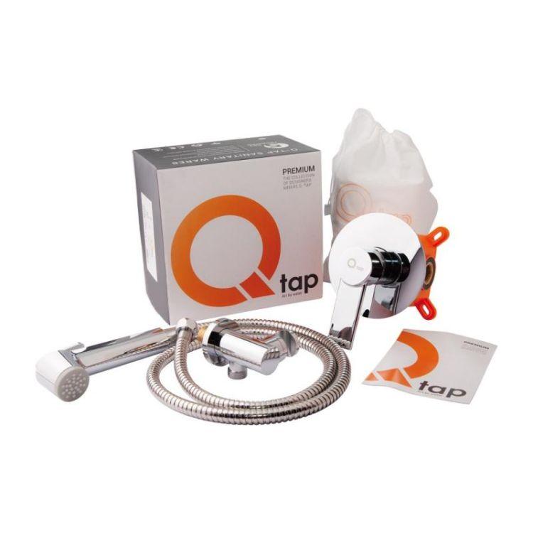 Комплект Qtap інсталяція Nest QTNESTM425M08CRM + унітаз з сидінням Swan QT16335178W + набір для гігієнічного душу зі змішувачем Form QTFORMCRM001AB - 12