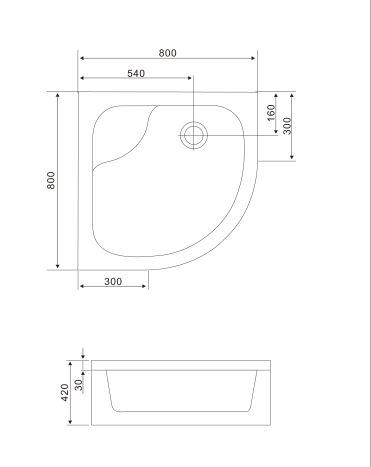 Душова кабіна TISZA MELY на глибокому піддонні 90х90х200 см 599-187 - 3