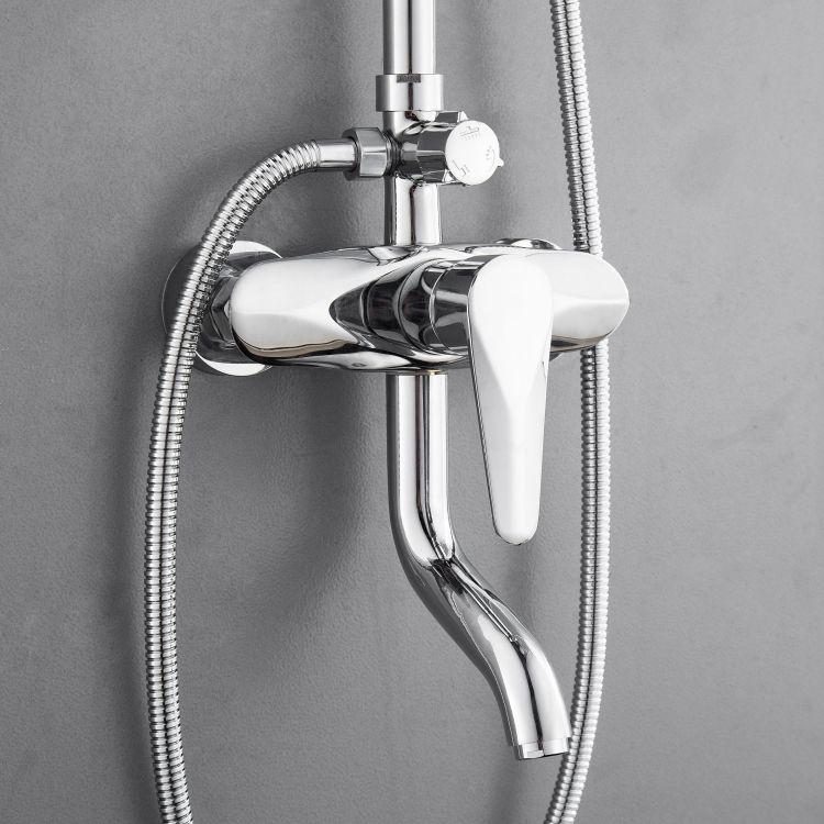 TULIP система душевая (смеситель для ванны, верхний и ручной душ) - 8