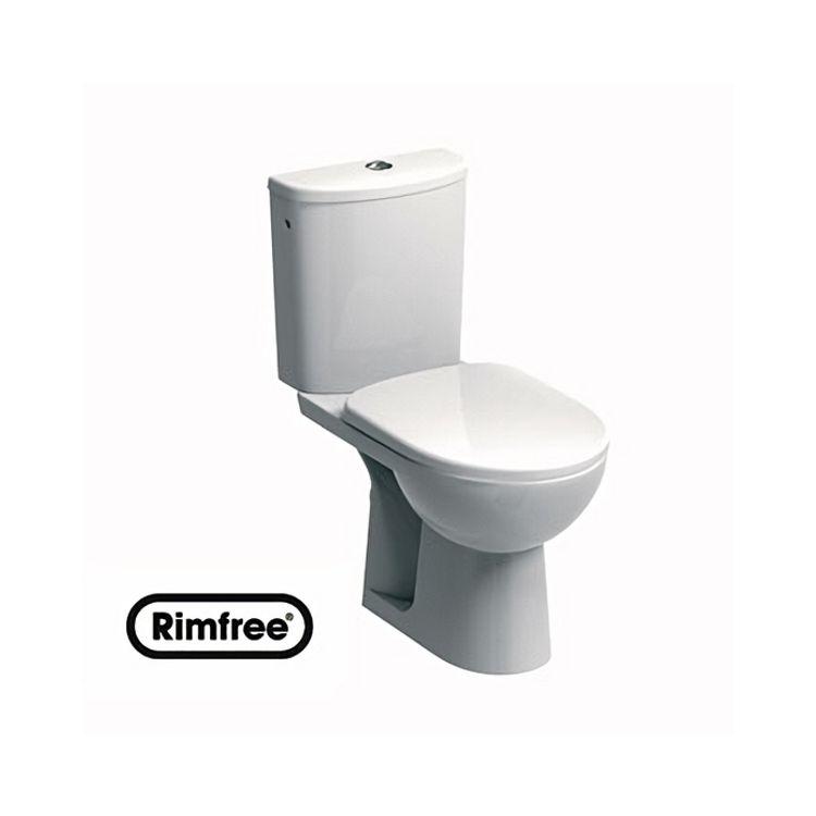 NOVA PRO унітаз-компакт Rimfree:унітаз підлоговий, м/в, Rimfree, бачок округлої форми, нижн/п, 6/3 л, Soft Close - 1