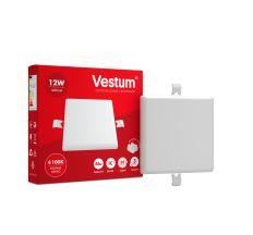 """Светильник LED """"без рамки"""" квадрат Vestum  12W 4100K"""