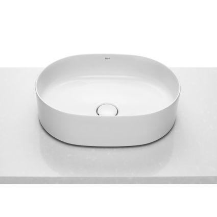 INSPIRA Round умивальник 500*370*140мм, круглий, накладної, без отв. під змішувач, без переливу - 1