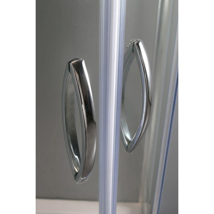 FIESTA душова кабіна 90*90*200 см на дрібному піддоні, профіль хром, прозоре скло - 6