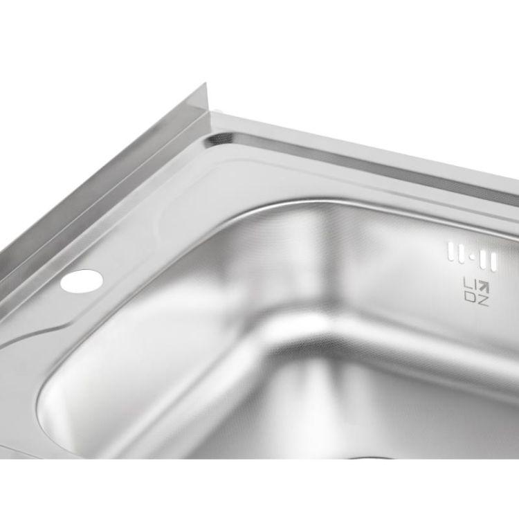 Кухонна мийка Lidz 6080-R Decor 0,6 мм (LIDZ6080RDEC06) - 6