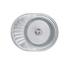 Мийка з нержавіючої сталі Lidz Decor 0,6 мм 160 мм