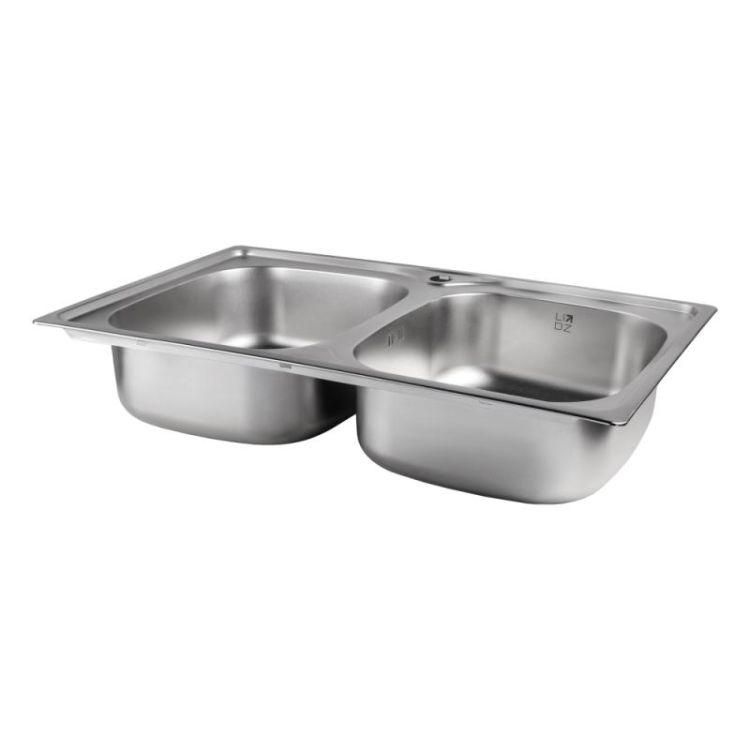 Кухонна мийка Lidz 7948 Satin 0,8 мм (LIDZ7948SAT8) - 3