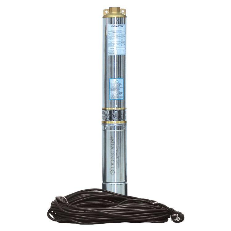 Насос центробежный скважинный 0.75кВт H 58(38)м Q 140(100)л/мин Ø102мм (кабель 30м) AQUATICA (DONGYIN) (777493) - 1