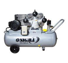 Компресор ремінною трициліндровий 380В 3кВт 610л/хв 10бар 135л Sigma (7044711)