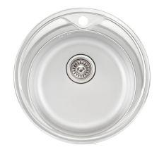 Кухонна мийка Qtap D510 Satin 0,8 мм (QTD510SAT08)
