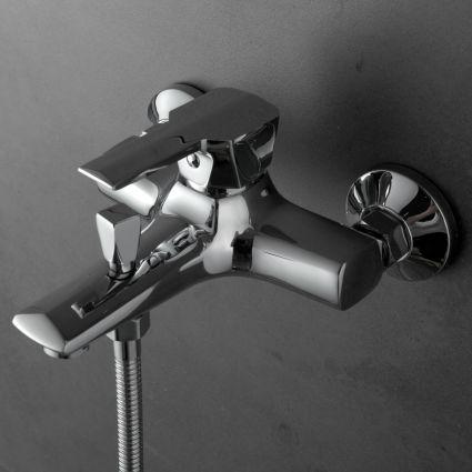 ROCK смеситель для ванны однорычажный, хром 35 мм - 3