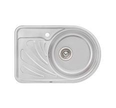 Кухонна мийка Qtap 6744R dekor 0,8 мм (QT6744RMICDEC08)