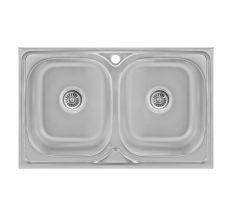 Кухонна мийка Lidz 5080 Decor 0,8 мм (LIDZ5080DEC08)