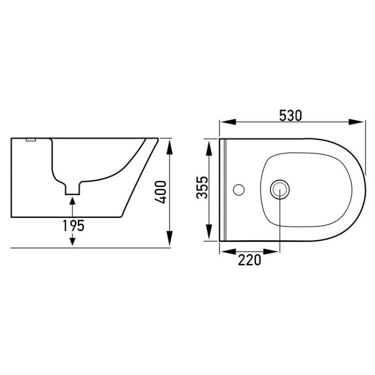 Комплект: ALTEA Rectangular унітаз підвісний з сидінням+Rapid SL Инсталяционная система для унітазу 3 в 1(аналог 38775001)+прокладка - 3