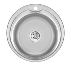 Кухонна мийка Lidz 510-D dekor 0,8 мм (LIDZ510DEC)